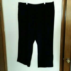 Lane Bryant Black Wide Leg Dress Pants Size 28